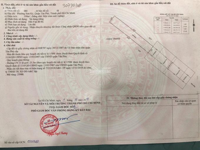 Chính chủ cần bán gấp nhà MT CN11 sát Aeon Mall Tân Phú - chốt nhanh 9 tỷ