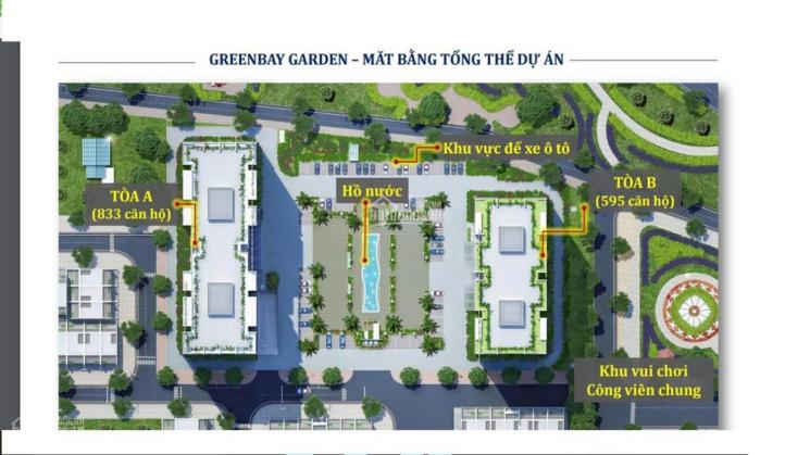 Bán cắt lỗ - chung cư Green Bay Garden của Bim Group - căn số 17 giá 1.090.000.000 VNĐ