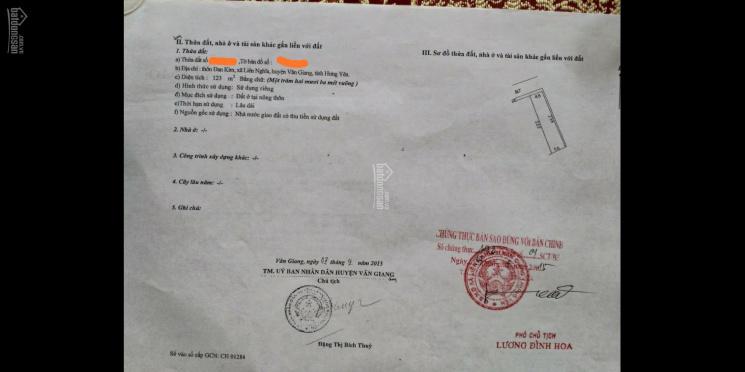 Bán 243m2 đấu giá, đối diện trường C3 Dương Quảng Hàm, Đan Kim, Liên Nghĩa, Văn Giang, Hưng Yên