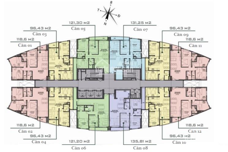 Bán căn góc 3PN, 118m2, cửa Tây Bắc chung cư Văn Phú Victoria giá 2,05 tỷ. LH 0934515659
