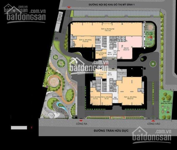 Cho thuê sàn thương mại tầng 1, vị trí góc 2 mặt tiền đẹp nhất dự án Florence Mỹ Đình