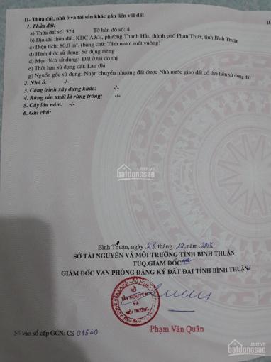 Bán gấp 80m2 đất thổ cư KDC Thanh Hải, Phan Thiết