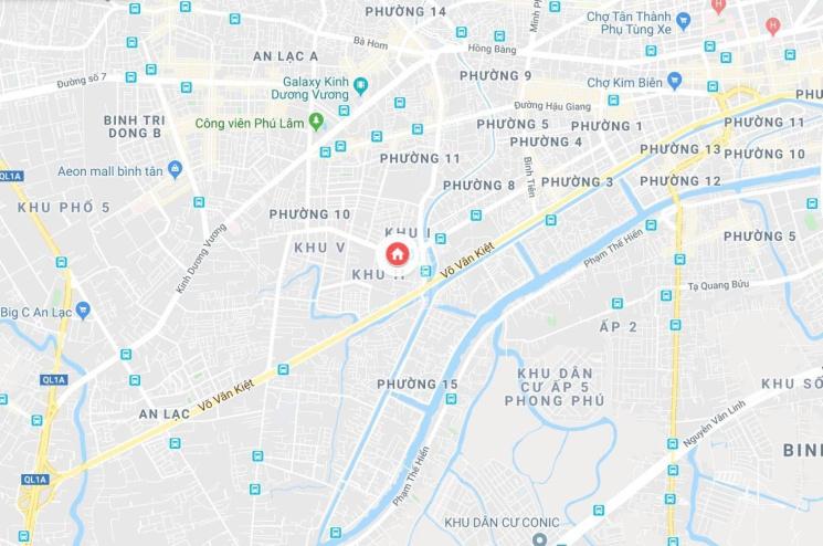 Bán nhà 3 mặt tiền, đường Lý Chiêu Hoàng, diện tích 1009m2, Q. 6, TP Hồ Chí Mình (Giá 130 tỷ)