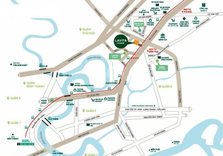 Chính chủ bán nhanh căn 2PN dự án Lavita Charm giá 2 tỷ, LH 0932749019