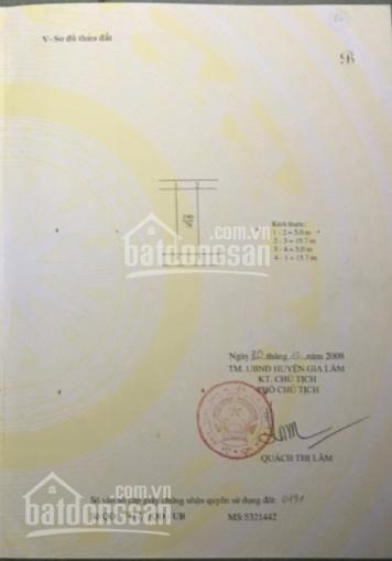 Bán nhà cấp 4 tại thôn Yên Viên, Gia Lâm, Hà Nội, DT: 78m2, MT: 5m, 2 mặt tiền, ô tô vào, 1,58 tỷ