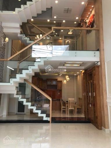 Bán nhà mới hẻm 8m đường Dương Quảng Hàm, P. 5, Gò Vấp, DT 5x10m, trệt, lửng, 2 lầu, ST