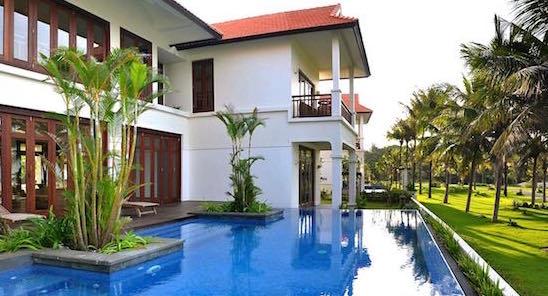 Biệt thự hạng sang có lối kiến trúc số 01 Đông Nam Á - Chất lượng công trình trên Vin & Sun 1 bậc