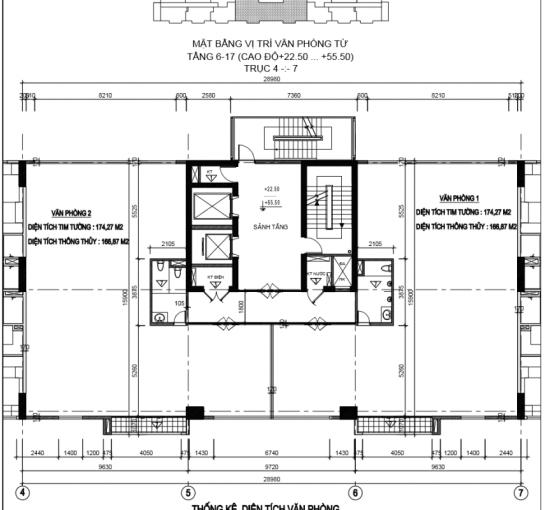 Bán sàn văn phòng 340m2-700-1000m2 tại Thành Công, Ba Đình