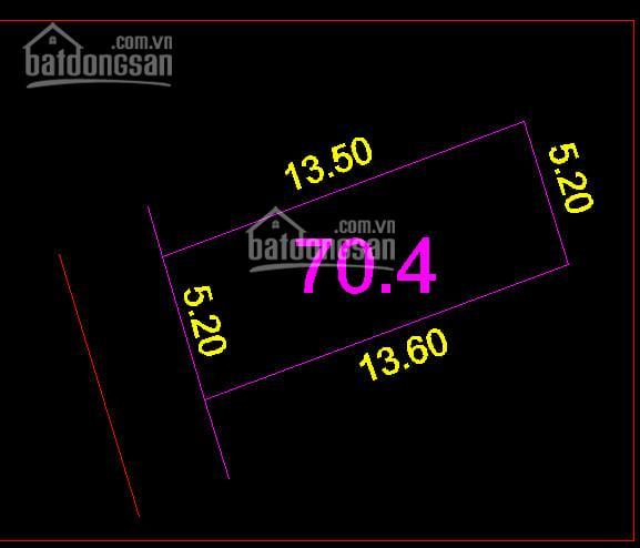Bán đất tại đường Cửu Việt 2, Trâu Quỳ, Gia Lâm, DT 69m2, MT 5.2m, lô góc, giá 34.5tr/m2