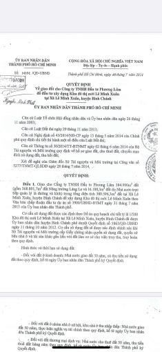 Cần chuyển nhượng dự án 1/500 39 hecta xã Lê Minh Xuân, Bình Chánh, LH 0783493338