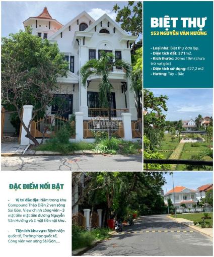 Bán biệt thự 153 Nguyễn Văn Hưởng, thuộc khu Thảo Điền 2, 2MT Nguyễn Văn Hưởng