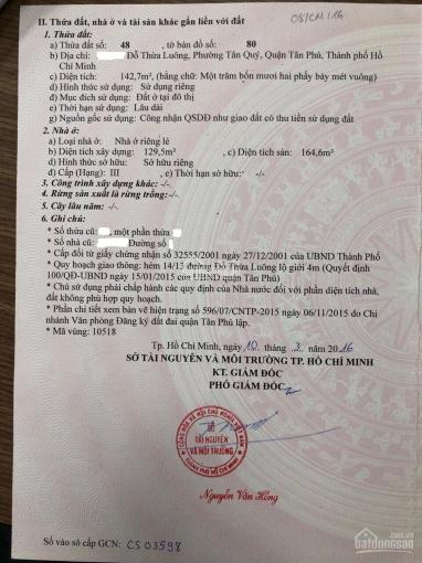 Chính chủ bán nhà nát quận Tân Phú, DT: 8.5x18m, hẻm 3.5m, giá bán 7 tỷ 600 triệu, Chỉ có 50tr/m2