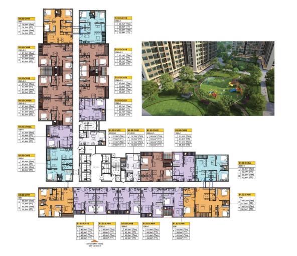 Độc quyền căn 3PN DT 75m2 giá rẻ nhất - View đẹp nhất vừa ra hàng tòa S1.02, LH 0948433313