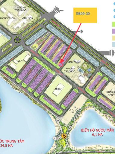 Bán gấp BT song lập SB09 - 30 dự án Vinhomes Ocean Park, đường thoáng, đối diện trường học