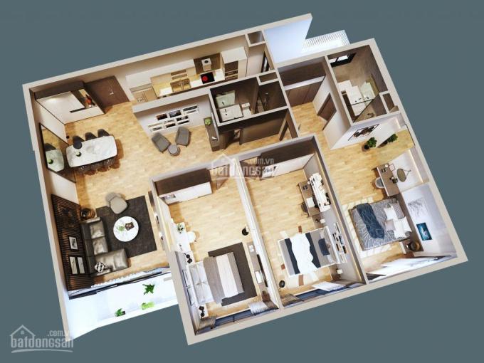 Bán căn hộ 3 phòng ngủ 135m2, 3.7 tỷ vào ở ngay, đủ điều kiện làm sổ hồng ngay trung tâm Thanh Xuân