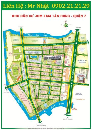 Cho thuê nhà khu dân cư Him Lam Kênh Tẻ, phường Tân Hưng, Quận 7, DT: 100m2, giá: 45Tr/tháng