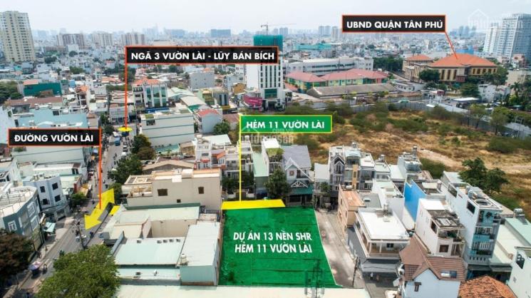 Bán đất sổ hồng riêng từng lô 11/2 Vườn Lài, Phú Thọ Hòa, Tân Phú. Sổ hồng riêng - hẻm trước nhà 7m