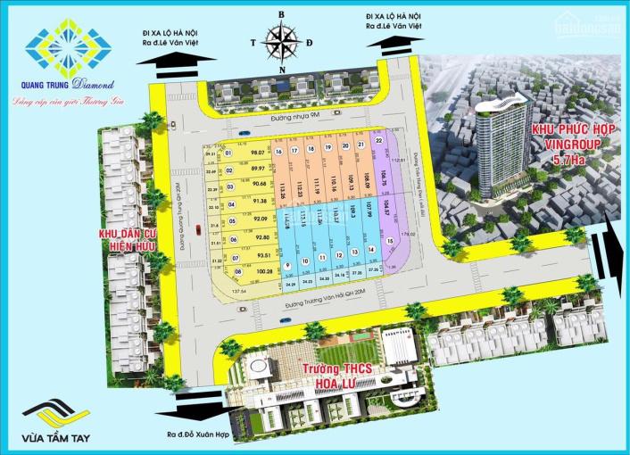 Đất nền liền kề trung tâm hành chính Quận 9, giá đầu tư, SHR, XDTD, LH 0936414668