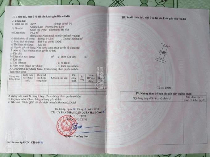 Bán đất ngõ 10 Quang Lãm, Phú Lãm, Hà Đông, Hà Nội