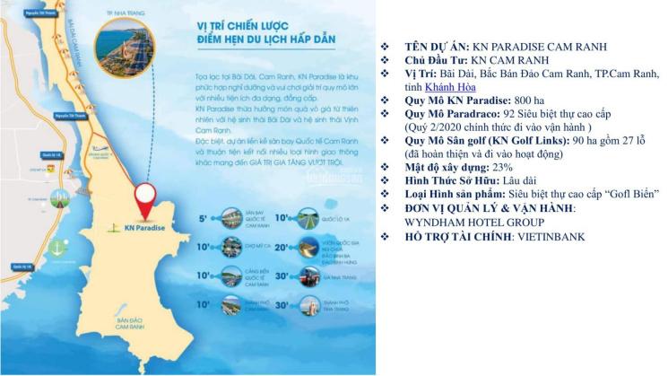 KN Paradise siêu BT 5* ngay Bãi Dài Cam Ranh - chỉ từ 49tr/m2 pháp lý đầy đủ đã hoàn thành 90%