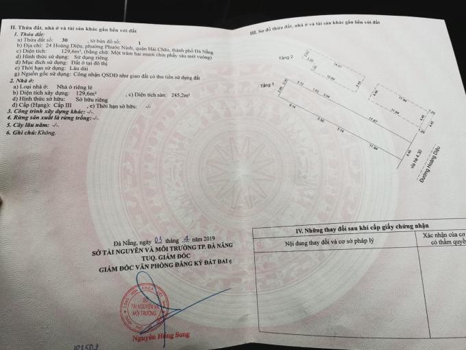 CHÍNH CHỦ BÁN NHÀ 2 TẦNG MẶT TIỀN NGAY TTTP ĐÀ NẴNG - VỊ TRÍ VÀNG CHO KD SPA, VĂN PHÒNG, NHÀ HÀNG
