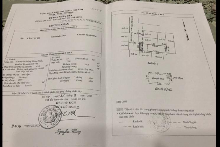 Bán nhà HXH 318/56/31 Thống Nhất, Phường 16, Quận Gò Vấp