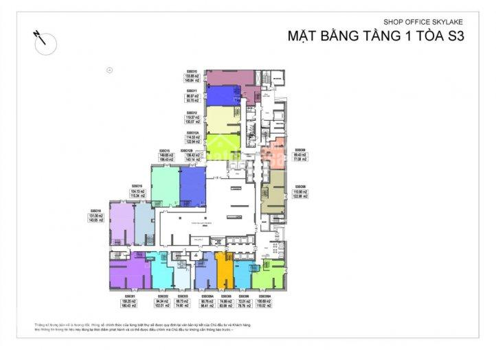 Cần share 40 - 70m2 mặt bằng tầng 1 lô S2 SO06 & S3 SO01 nằm ở trung tâm nội khu & mặt hồ