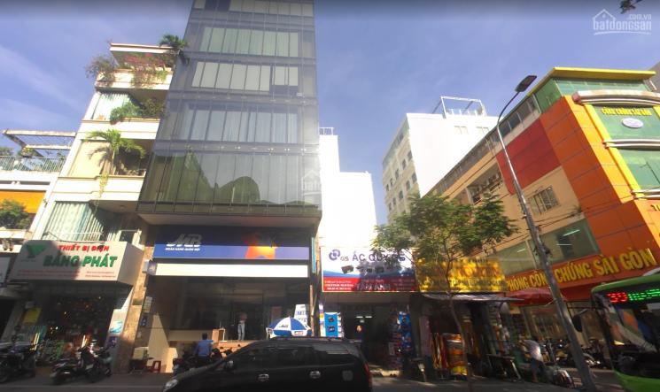 Cho thuê mặt bằng văn phòng mặt tiền Đường Nguyễn Thái Bình Quận 1 DT: 10x20m hầm 8 lầu giá 110tr