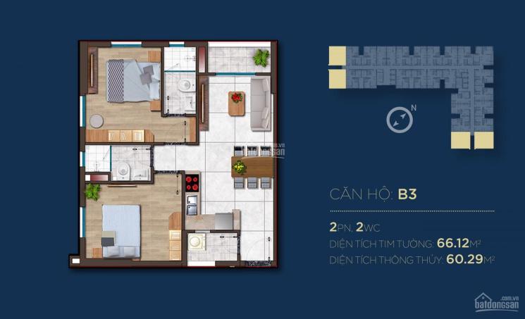 Chính chủ đã mua căn hộ Happy One sang nhượng lại căn góc 2PN view công viên giá tốt, 0906450552