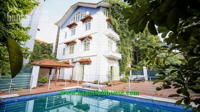 Cho thuê căn biệt thự tuyệt đẹp với sân vườn, bể bơi, diện tích lên đến hơn 400m2