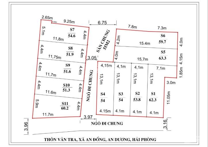 Nhà 3T xây mới thôn Vân Tra, sau trường tiểu học An Đồng, ngõ 3,5m, gần chợ Vĩnh Khê, CC Hoàng Huy