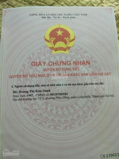 Bán đất ngõ 42 phố Sài Đồng cạnh trường cấp 2 Sài Đồng ngõ ô tô đỗ cổng, DT: 30m2 giá 1,22 tỷ