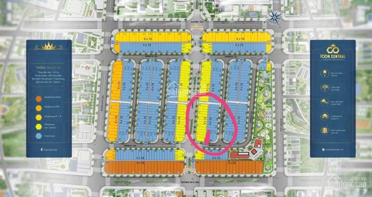 Icon Central đất nền sổ đỏ A6.27 hướng Tây Nam, cơ sở hoàn thiện 80% pháp lý hoàn chỉnh 09292.83734