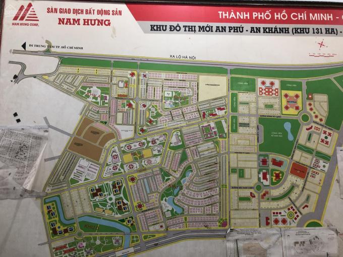Bán đất An Phú An Khánh, Q2 mặt tiền đường Vành Đai Tây. Diện tích 5x20m giá 135 triệu/m2 đường 18m