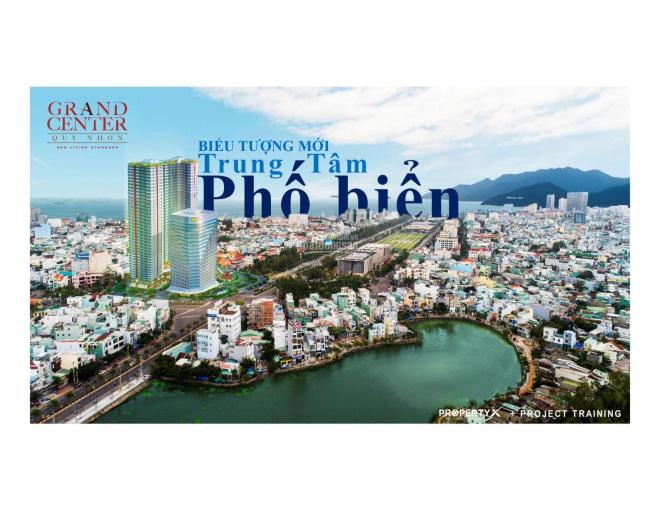 Căn hộ số 1 Nguyễn Tất Thành, tp Quy Nhơn dự án Grand Center CDT Hưng Thịnh 1tỷ8/căn chiết khấu 10%