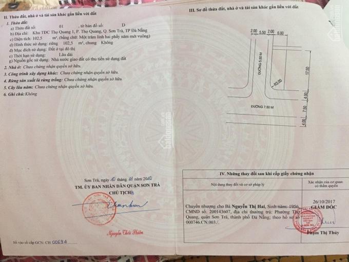 Chính chủ cần tiền bán nhà 2 mặt tiền đường Mân Quang 8 và Mân Quang 6 đối lưng với đường Ngô Quyền