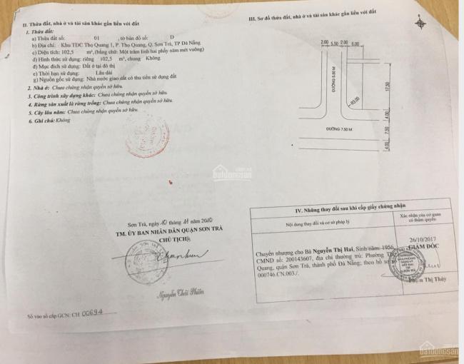 Bán nhà lô góc Mân Quang 8 - Mân Quang 6. DT: 6x17.5m, vị trí đẹp, giá thỏa thuận