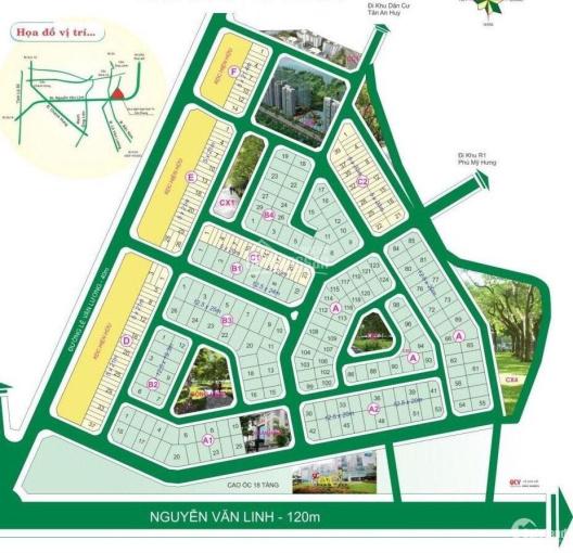 Bán đất Sadeco nghỉ ngơi giải trí Q7 view công viên Phú Mỹ Hưng 12,5x20m chỉ 75tr/m2. LH 0909460360