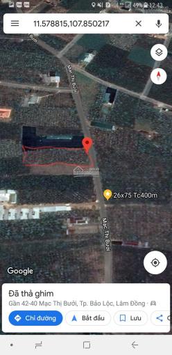 Bán đất mặt tiền Mạc Thị Bưởi, TP Bảo Lộc DT: 26x75m thổ cư 400m2. Giá bán 4tỷ6 LH: 037.345.7474