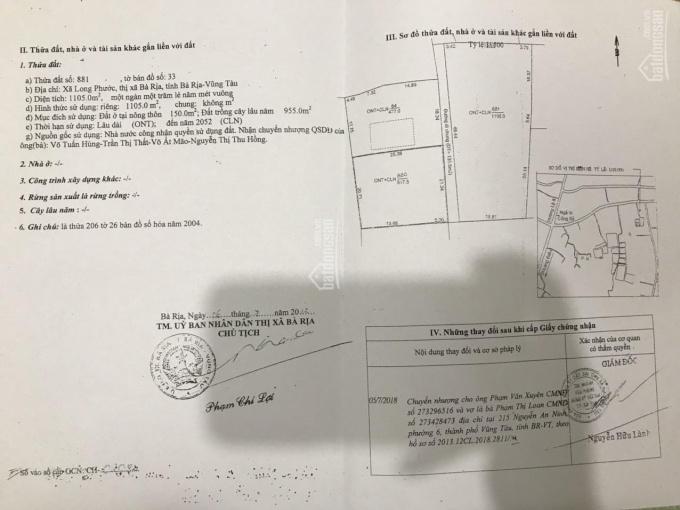 Chính chủ cần bán gấp lô đất nền tỉnh Bà Rịa - Vũng Tàu. Giá siêu tốt. LH 0931569898
