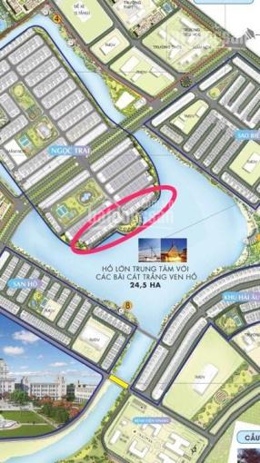 Bán biệt thự đơn lập mặt hồ Ngọc Trai 1 hướng Đông Nam vip nhất dự án LH: 0969.94.6869 PKD Thao