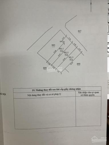 Bán đất tại phường Phúc Đồng, Long Biên, Hà Nội, DT: 75 m2, MT: 5,36m