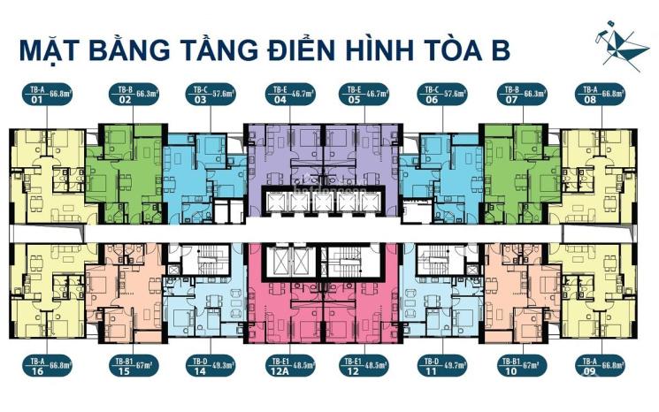 Giao bán CH chung cư intracom Riverside, căn 2206, tòa B, DT: 57.6m2, 21.5tr/m2. LH: 0971285068