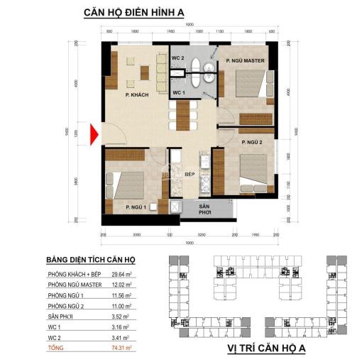 Bán căn hộ Green River Phạm Thế Hiển 80,31m2, giá bán: 2,199 tỷ, mã căn 06. LH: 0938519087 Bảo