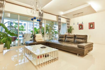 Cho thuê căn hộ Estella diện tích 171m2, 3PN, view sân vườn và hồ bơi đẹp (giá 49 triệu/tháng)