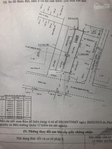 Bán đất 5m*25m MT Hiệp Thành 13, Hiệp Thành, Q12, SHR, giá 6.2 tỷ, LH 038 568 1368