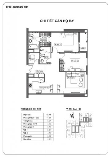 Chính chủ bán căn hộ 2 phòng ngủ, cần thanh khoản sớm, giá tốt nhất thị trường