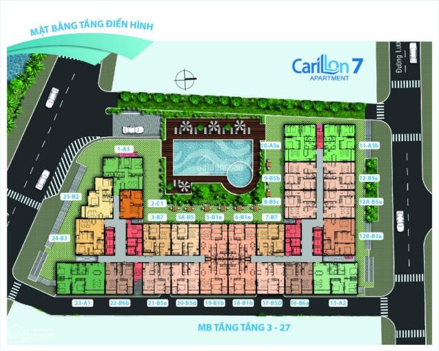 Carillon 7 - Rổ hàng Chính chủ 49m2 - 1,86 tỷ, 71m2 - 2,3 tỷ, 66m2 - 2,08 tỷ - mua bán tại TTC CĐT