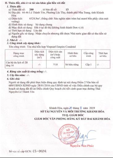 02 căn hộ condotel Vinpearl Nha Trang đã có sổ đỏ, giá rẻ nhất thị trường. Gọi ngay: 0936048811