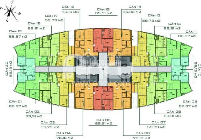 Bán căn 2PN, 67m2, cửa Tây Bắc tòa V1 chung cư Văn Phú Victoria giá 1,4 tỷ. LH 0934515659